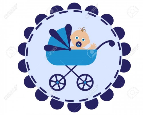 15822462-icon-with-the-image-of-a-blue-stroller-and-sitting-in-her-baby-with-pacifier--Stock-Vector